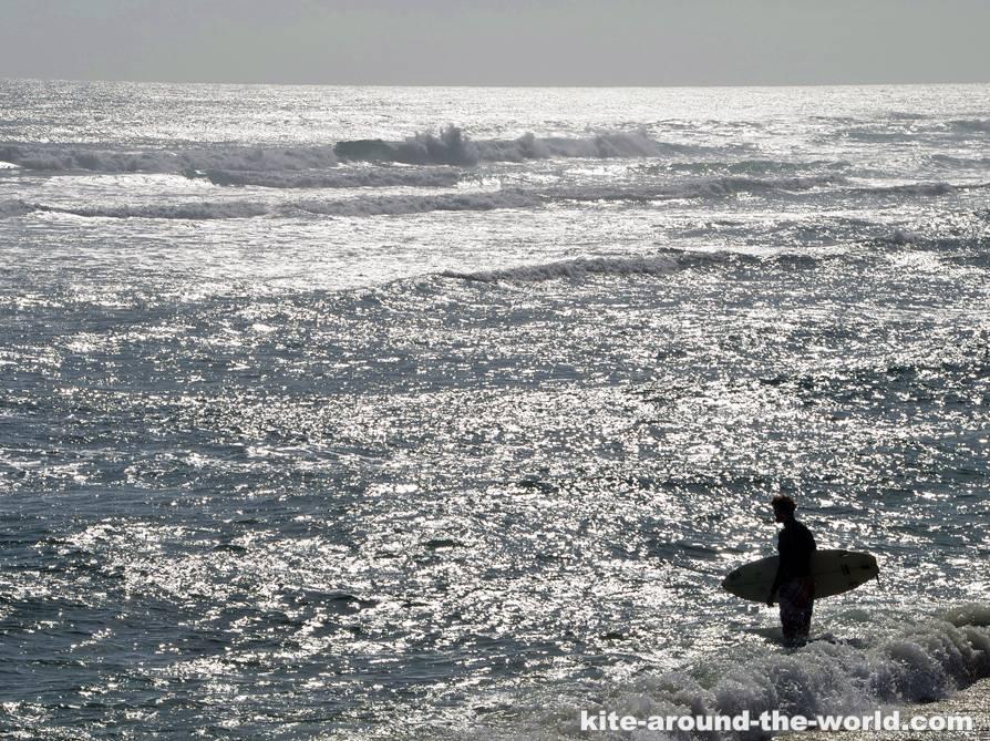 Martin Encunetro geht ins Wasser