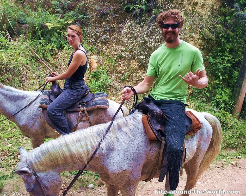 Martin riding Horse